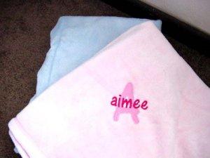 Personalized Baby Tahoe  Blanket Security Blankie