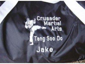 Personalized Karate Martial Arts Black Belt  Gym Bag
