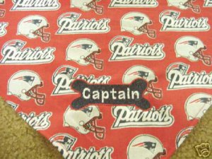 PERSONALIZED New England Patriots DOG Cat Bandana