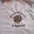 Personalized Flower Girl T-shirt Rehearsal dinner
