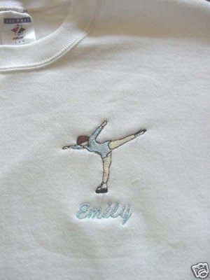 Personalized Ice Figure Skating Skate Sweatshirt Adult