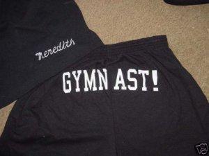 Personalized Gymnastics Gymnast Butt Print Shorts A/L