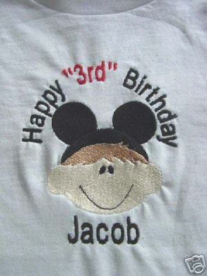 Personalized Happy 2nd 3rd Birthday Mickey Mouse shirt
