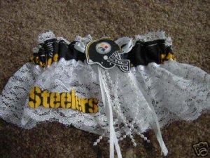 Football Steelers NFL Wedding Bridal Prom Garter Pittsburgh