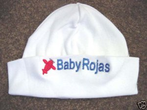 Personalized Boys Baby Infant Newborn Hat Cap W/name