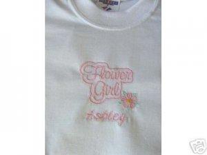 Personalized FLOWER GIRL Shirt WEDDING Rehearsal dinner
