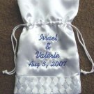 "Personalized 10"" WEDDING MONEY CARD BAG BRIDAL PURSE Rhinestones"