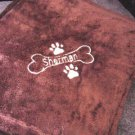 Personalized Dog Pet Puppy Blanket 30 x 40 Tahoe Fleece