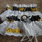 Football Pittsburgh  Steelers Bridal Garter Set Garters