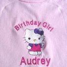 Personalized Girls Hello Kitty Birthday Shirt