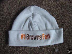 Browns Football Baby Infant Newborn Hospital Hat Cap
