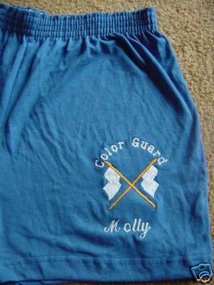 Personalized Colorguard Winterguard Flag Shorts Y/L