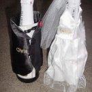 Personalized Wedding  Bride/Groom Wine Bottle Cover Set