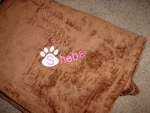 Personalized Pet Cat Kitten  Blanket 30x40 Tahoe Fleece