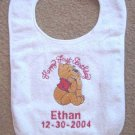 Personalized Babys First Birthday Winnie the Pooh Bib