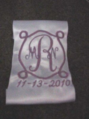 Personalized White or Ivory WEDDING BRIDAL Dress Label