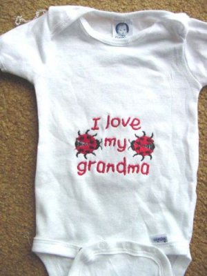 Personalized I love my Grandma Infant Newborn Onesie