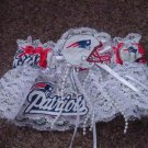 New England Patriots Football NFL Bridal Wedding Garter Keepsake