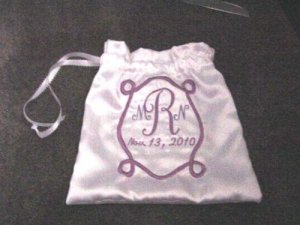 "Personalized 11"" WEDDING MONEY CARD BAG BRIDAL PURSE"