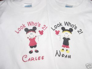 PERSONALIZED Minnie Mouse Birthday Shirt Look whos 1