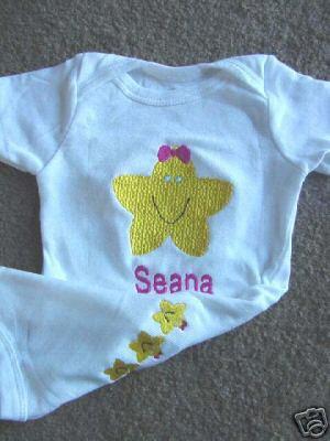 Personalized Girls Baby Newborn Infant Onesie Girl Gift