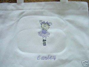 Personalized Girls  Ballerina Dance  Ballet Tote Bag