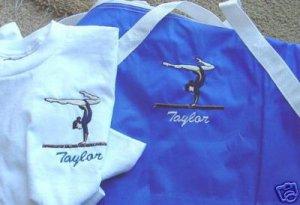 Personalized Girls Gymnastics Gymnast Duffle Shirt Set