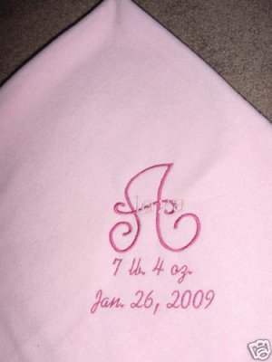Personalized Girl Newborn Baby Infant Fleece Blanket