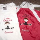 Personalized Cheerleader Cheer Duffle Bag Shirt Set