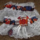 Firefighter Fireman Wedding Bridal Garter Set White Or Ivory