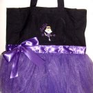 Ballerina Ballet PreBallerina Dance Dancer Tote Bag with tutu Personalized Girls Toddler