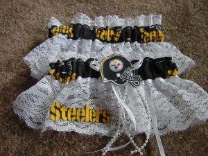 Football Pittsburgh  Steelers Bridal Garter Set Garters