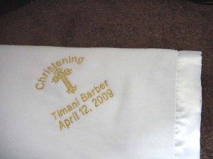 Personalized Baby Newborn Church Baptism Christening Orthodox Satin Trim Blanket