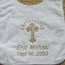 Personalized Baptism Christening Orthodox God Bless Baby Newborn Keepsake Bib