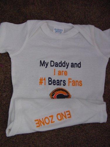 Chicago Bears Football Baby Infant Newborn Onesie Creeper