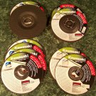 """10pc 4-1/2"""" DEPRESSED CENTER GRINDING / CUT OFF WHEELS for MASONRY and METAL new"""