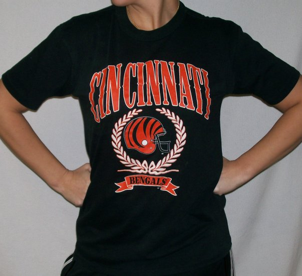Vintage 80 39 s cincinnati bengals football t shirt soft for Vintage bengals t shirts