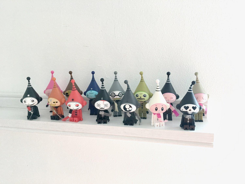 Kidrobot Icebots Dalek set of 14