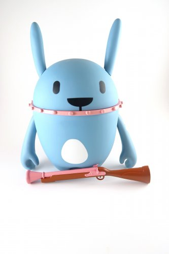 7.5 inch Nedzed blue rabbit included mini figure