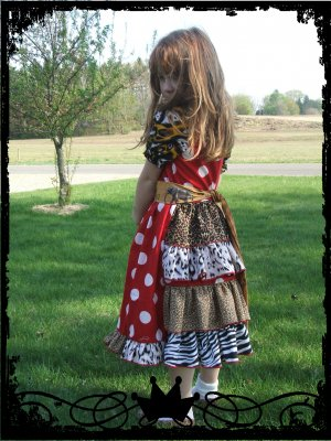 Wild Miss Mouse Minni, Animal Print Dress
