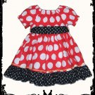 Adorable Custom Boutique Disney Minnie Mouse Dress Sizes 6 months -12 years and more