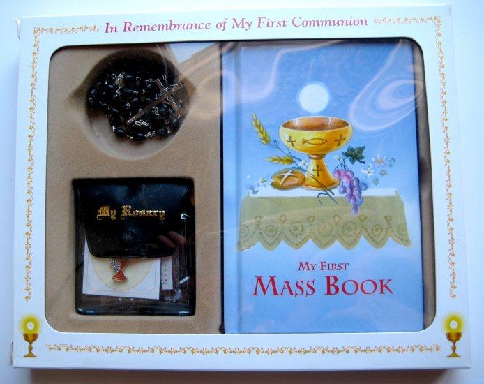 5 piece First Communion Gift Set - Black