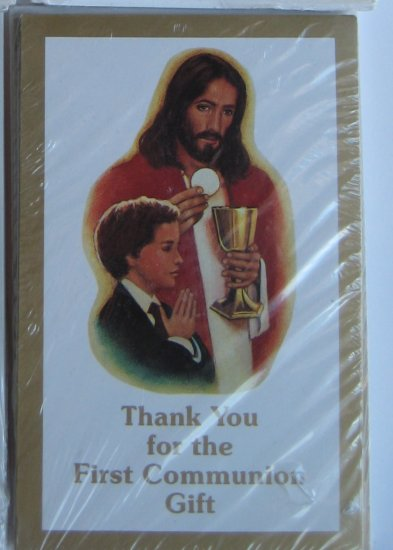 First Communion Thank-You Cards - 8pk, Boy