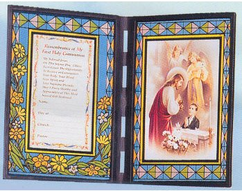 First Communion Stained Glass Plaque/Frame