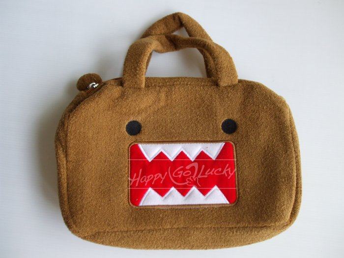 DOMO-Kun Zipper Handheld Purse Bag - Light Brown - NEW