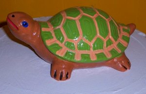Collectable Ceramic Hand Painted Turtle Figurine FREE Ship
