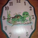 Turtle tortoise wooden wall clock FREE SHIP