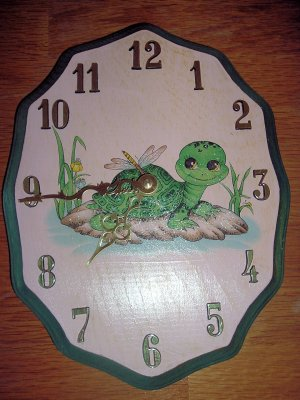 Turtle tortoise wooden wall clock FREE SHIP