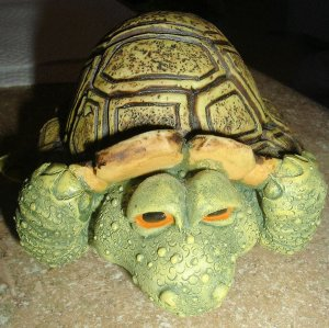"Resin big head turtle figurine 5"" x 4.5"" FREE SHIP"