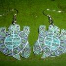Acryl turtle dangle earrings FREE SHIP